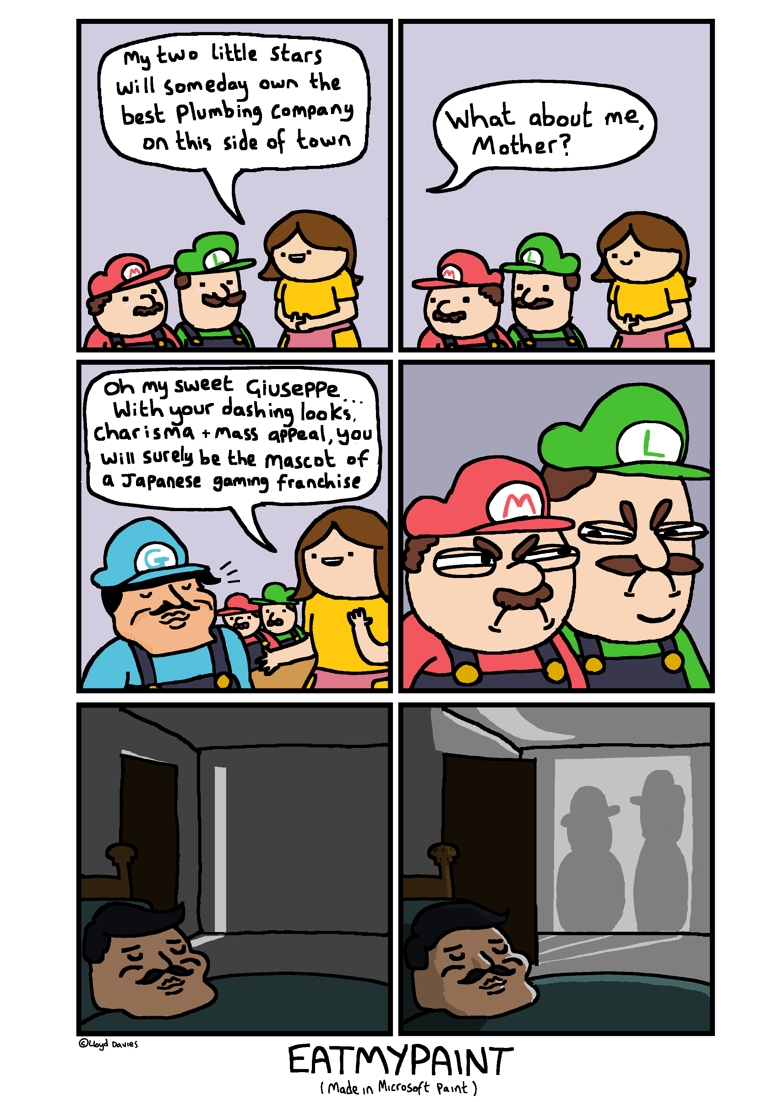 It was at this point, Mario's & Luigi's endless appetite for murder began.