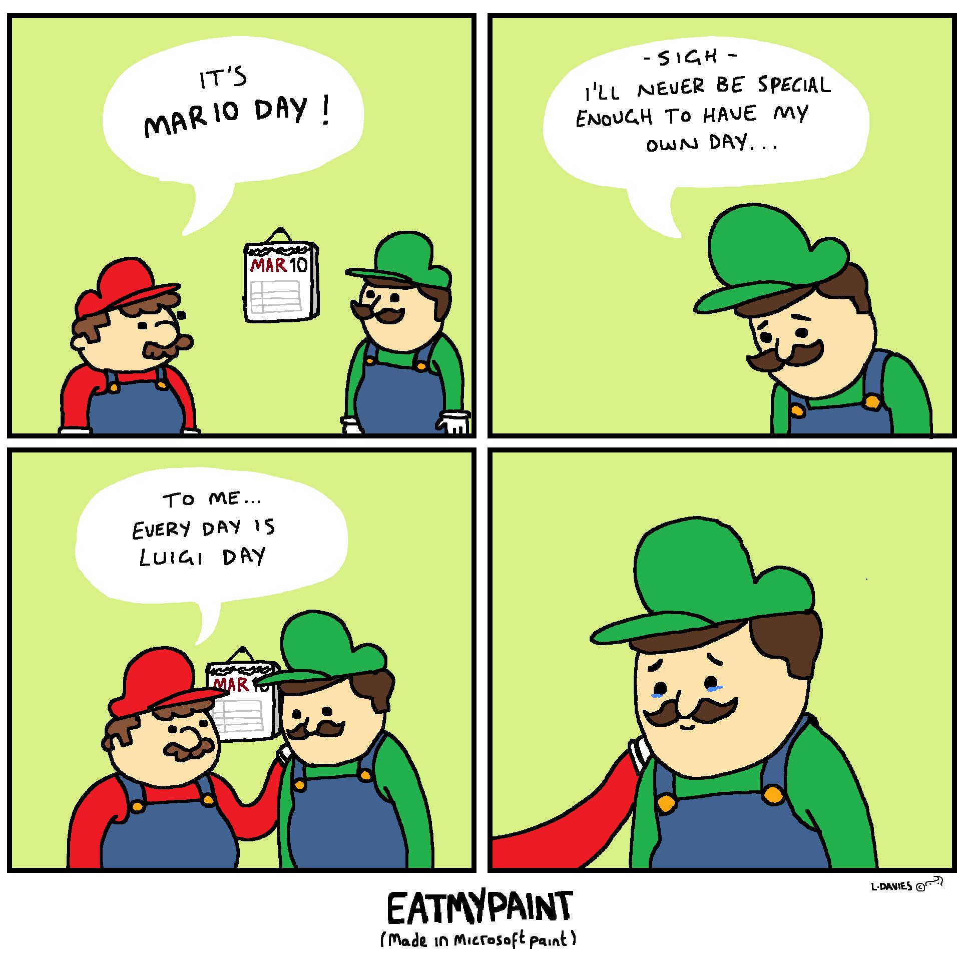 Luigi Day is actually Luitember the gifteenth FYI